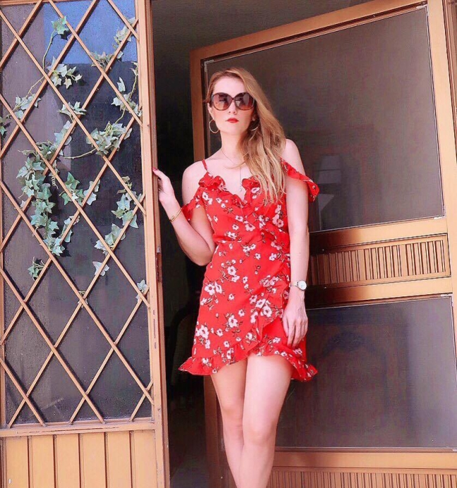 Red dress yoins