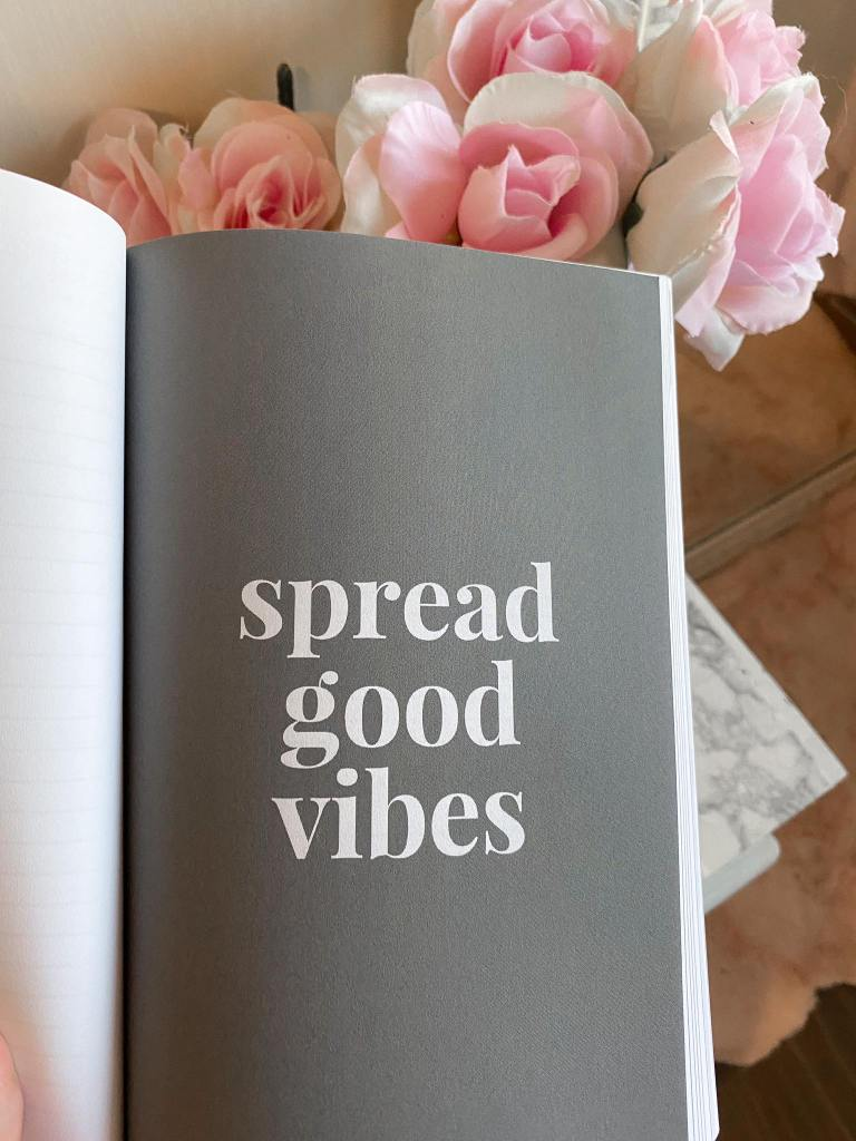 spread good vibes quote from the gratitude journal 8 weeks of gratitude